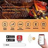 Inkbird Bluetooth 4.0 Barbecue Backofen Grillthermometer BBQ Bratenthermometer Fleisch Küche Thermometer Timer mit Temperaturalarm + Edelstahl Lange Temperaturfühler, App für Android 4.4 + top & iOS 7+ (Inkbird IBT-2X+2 Temperaturfühler) - 3