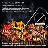 Inkbird Bluetooth 4.0 Barbecue Backofen Grillthermometer BBQ Bratenthermometer Fleisch Küche Thermometer Timer mit Temperaturalarm + Edelstahl Lange Temperaturfühler, App für Android 4.4 + top & iOS 7+ (Inkbird IBT-2X+2 Temperaturfühler) - 4