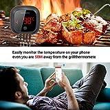 Inkbird IBT-4XS Bluetooth Barbecue Grillthermometer mit das in 1000mAh Li-Batterie, Magnet Montagedesign und Rotations Lesebildschirm Thermometer für BBQ, Küche, Grill, Ofen, Fleisch - 2