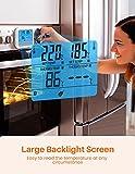 Fleischthermometer TOPELEK Bratenthermometer Grillthermometer 2 Sonden Haushaltsthermometer Temperatur Voreinstellung, Countdown Timer, Instant Read-Out, Magnetische Montagedesign für Küche, Grill - 3