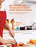 Fleischthermometer TOPELEK Bratenthermometer Grillthermometer 2 Sonden Haushaltsthermometer Temperatur Voreinstellung, Countdown Timer, Instant Read-Out, Magnetische Montagedesign für Küche, Grill - 7