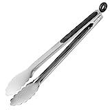 Premium Grillzange Küchenzange Universalzange aus Edelstahl mit Silikon für Grillen, Kochen, Backen & Servieren - 4