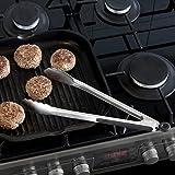 Premium Grillzange Küchenzange Universalzange aus Edelstahl mit Silikon für Grillen, Kochen, Backen & Servieren - 6