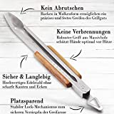 Lange Edelstahl Grillzange (45 cm) mit Holzgriff aus hochwertigem Palisander von Grillfaktur® - 5