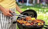 Linnuo® Grillzange Edelstahl Holz Griff 45cm, XXL Grillzange Küchenzange Zange aus hochwertigem Edelstahl und echtem Holz, ideal für Grillen Kochen Servieren, 45 x 5 x 5cm - 5