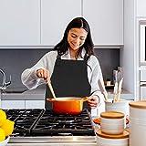 Küchenschürze – Grillschürze – Baumwolle schwarz - 6