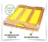 Sandford CUT Bambus Holz Schneidbrett | Schneidebrett Set mit 6 Schneidematten / flexible Kunststoff Matten | Lebensmittel wie Fisch / Gemüse / Geflügel separat schneiden | hygienisches Küchenbrett - 4
