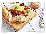 Sandford CUT Bambus Holz Schneidbrett | Schneidebrett Set mit 6 Schneidematten / flexible Kunststoff Matten | Lebensmittel wie Fisch / Gemüse / Geflügel separat schneiden | hygienisches Küchenbrett - 5