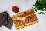 Fackelmann Schneidebrett Akazie, Küchenbrett aus Natur-Holz als Frühstücksbrett verwendbar – Bruch- & Verschleißfestigkeit, Menge: 1 Stück - 3